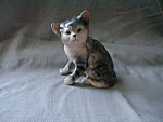 Gray Cat Figurine