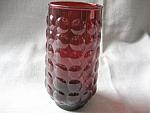 Ruby Red Hazel Atlas Knob Drinking Glass