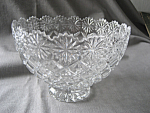 Footed Cut Glass Crystal Bowl