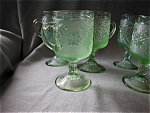 Chantilly Green Tiara Footed Mugs