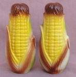 Vintage Tall Corn Salt & Pepper Shakers
