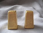 Gold Porcelain Salt And Pepper Shakers