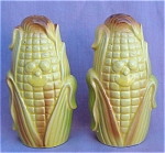 Vintage Tall Corn Salt + Pepper Shakers