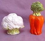 Cauliflower Carrots Salt Pepper Shakers