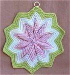 Vintage Hand Crocheted Star Potholder