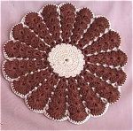 Vintage Hand Crocheted Brown Potholder
