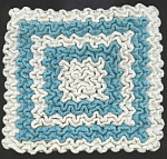 #1 Turquoise Hand Crocheted Pot Holder