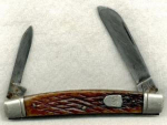 Sabre 2 Blade Pocket Knife. Marked 'sabre Japan'.