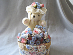 Bear On A Basket Music Box