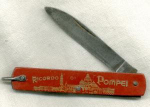 Vintage Pompei Souvenir Pocket Knife
