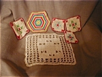 Crochet Hot Pads And Doily