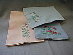 Three Embroidered Tea Towels