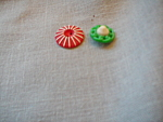 Red And Green Bakelite Buttons