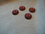 Four Bakelite Buttons