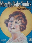 Sheet Music - When My Baby Smiles - I. Berlin