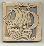Moravian Tile Mayflower Dated 1974