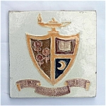 Rare Broadmoor Art Tile For Gamma Phi Beta