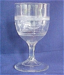 Birds At Fountain Pressed Glass Goblet