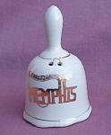 Memphis Graceland Souvenir Porcelain Bell