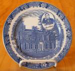 Souvenir China Adams My Old Ky Home Plate, Bardstown, Stephen Foster