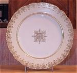 Ahrenfeldt Limoges China Charger Round Platter, Higgins & Seiter Ny