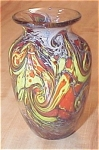 Hand Blown Art Glass Vase 1920s-30s