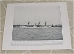 1898 Naval Ship Print, Uss Dolphin Uss Bancroft, Spanish American War