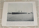 1898 Naval Navy Ship Antique Print, Steamship St. Louis, St. Paul