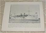 1898 Naval Ship Print, Uss Philadelphia, Uss Miantonomah, U.s. Navy