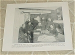 1898 Uss Maine Ward Room & Junior Officers Prints, Spanish Am War