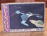 Original 1966 Star Trek Amt Klingon Battle Cruiser Model Toy Box