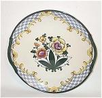 Noritake Deco Floral Handled Cake Plate