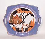Noritake Deco Bridge Scene Cake Plate