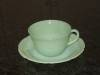 Fire King Alice Jadite Jadeite Cup And Saucer Set- Fire King