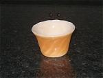Fire King Peach Lustre Luster Copper Tint Swirl Custard Dessert Cups- Fireking