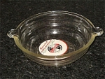 "Mckee Glasbake Round Ribbed 9"" Ribbed Casserole With Original Label"