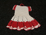 Vintage Crochet Red And White Hot Pad Pads Pot Holder