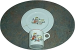 Salem China Childrens Dishes Mary And Lamb Cup And Plate