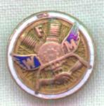 Vintage Fwm Wfm Screw Back Enamel Pin