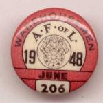Afof L Warehousemen March 1948 Union Pin Button.