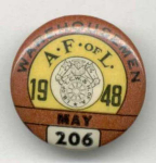 Af Of L Warehousemen 1948 Union Pin Button 1948