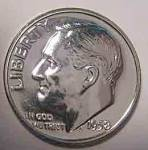 1958 Roosevelt Silver Brilliant Gem Proof Dime Coins