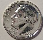 1959 Roosevelt Silver Brilliant Gem Proof Dime Coins