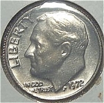 1972 Roosevelt Dime From Original Bu Roll Coins