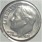 1972-d Roosevelt Dime From Original Bu Roll Coins