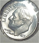 1973 Roosevelt Dime Cut From Mint Set Coins