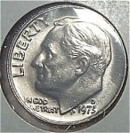 1973-d Roosevelt Dime From Original Bu Roll Coins
