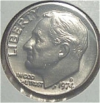 1974-d Roosevelt Dime Cut From Mint Set Coins