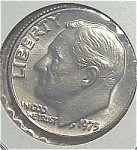 1975 Roosevelt Dime Cut From Mint Set Coins