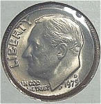 1975-d Roosevelt Dime From Original Bu Roll Coins